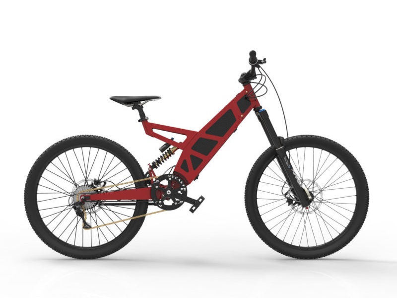 P-7 Stealth Bike in Red